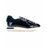 Manuel Barceló varnished lace-up sneakers - Bleu
