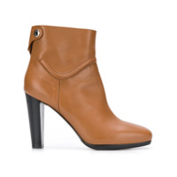 Hermès Vintage high-heel ankle boots - Marron