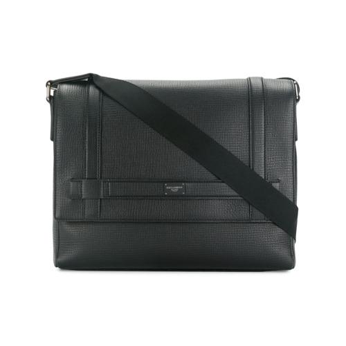Dolce & Gabbana grand sac porté épaule à plaque logo - Noir
