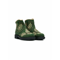 Quis Quis paisley embroidered boots - Vert