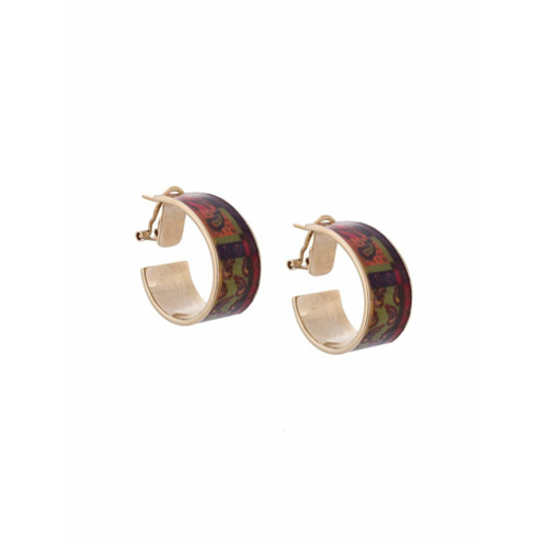 Etro decorative plated earring - Rouge