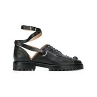 Rue St ankle strap brogue shoes - Noir