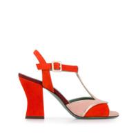 Paola D'arcano sandales colour block - Orange