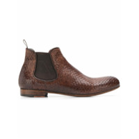 Lidfort bottines chelsea texturées - Marron