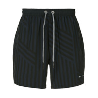 The Upside loose striped running shorts - Noir