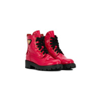 Iceberg Kids lace-up combat boots - Rouge
