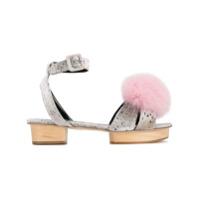Liudmila sandales Happy Pom Pom - Gris