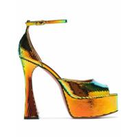 Amina Muaddi sandales Bianca 140 à plateforme - Multicolor