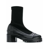 Nicole Saldaña platform sock boots - Noir