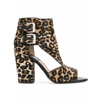 Laurence Dacade Rush leopard print sandals - Marron