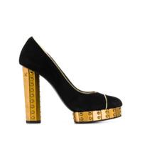 Chanel Vintage escarpins à talon contrastant - Noir