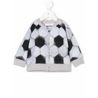 Molo football print zipped top - Gris