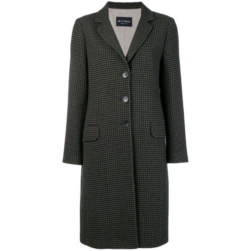 Etro houndstooth coat - Vert