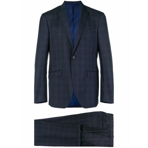 Etro two-piece check suit - Bleu