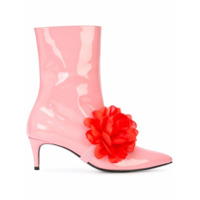 Leandra Medine bottines à fleur - Rose