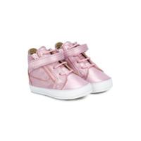 Giuseppe Junior chaussons métallisés - Rose