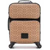 Coach valise à roulettes à logo - Tons Neutres