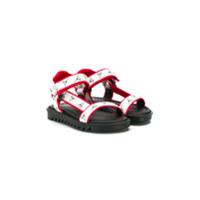 Giuseppe Junior sandales à brides à logo - Blanc