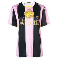Versace embroidered logo football T-shirt - Violet