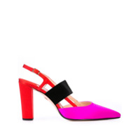 Andrea Gomez sandales Grace colour block - Rouge