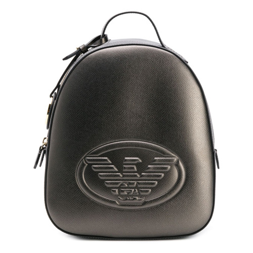 Emporio Armani logo embossed backpack - Argenté