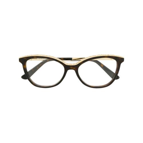 Etro lunettes à monture papillon - Marron