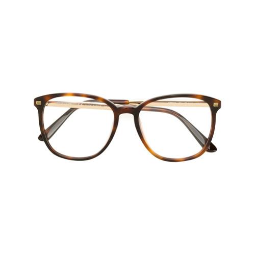 Etro lunettes à monture carrée - Marron