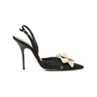 A.N.G.E.L.O. Vintage Cult pearl flower pumps - Black With White Pearls