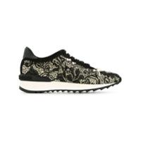 Casadei pearl lace sneakers - Noir