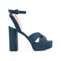 Anna F. sandales à talon plateforme - Bleu