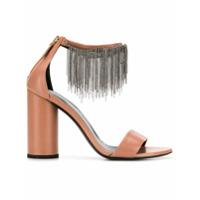 Fabiana Filippi sandales à détails de chaînes pendantes - Tons Neutres