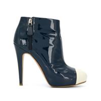 Chanel Vintage bottines à bout contrastant - Bleu