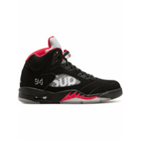 Supreme baskets Air Jordan 5 Retro Supreme - Noir