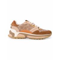 Coach signature runner sneakers - Marron
