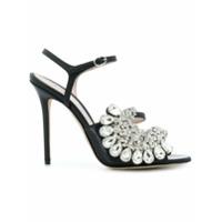 Paula Cademartori sandales Blossom Opulence - Noir