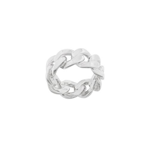 Maison Margiela bracelet à effet chaîne - Métallisé