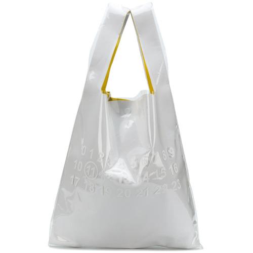 Maison Margiela sac cabas à logo imprimé - Blanc
