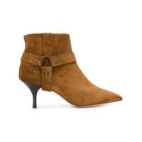 Morobé strap detail ankle boots - Marron