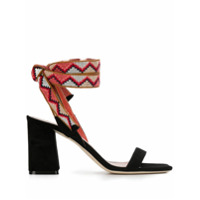 Gianna Meliani sandales à bride cheville contrastante - Noir