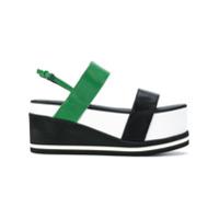 A.F.Vandevorst sandales à semelle plateforme - Multicolore