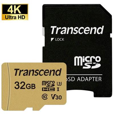 Transcend microSD Card 500S MLC 32Gb Sdhc inkl. Adapter Karten