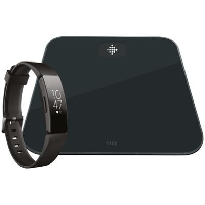 Fitbit Aria Air & Inspire HR Bundle Schwarz Smart Waage Activity Tracker