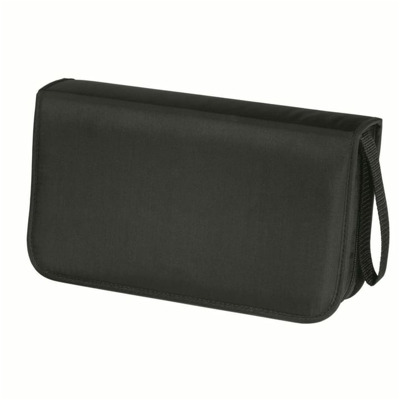 Hama CD Wallet nylon 80 black CD-Tasche