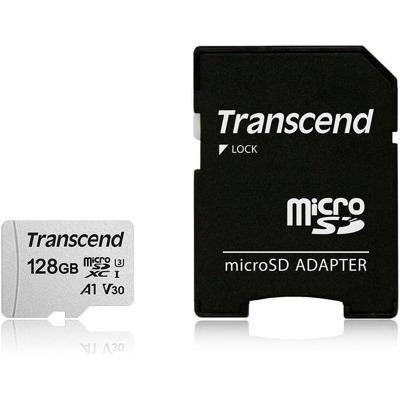 Transcend microSD Card 300S 128Gb Sdxc inkl. Adapter Karten