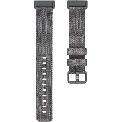 Fitbit Charge 3 Gewebearmband Dunkelgrau Large Armband