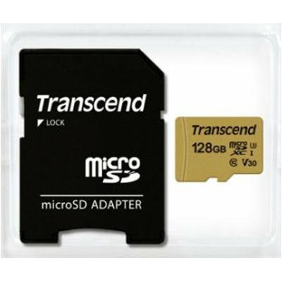 Transcend microSD Card 500S MLC 128Gb Sdxc inkl. Adapter Karten