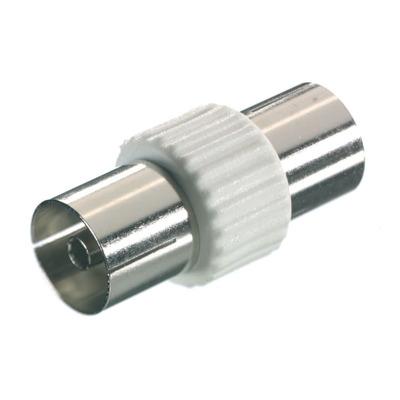 Vivanco Koaxial Doppelkupplung Antennen Adapter