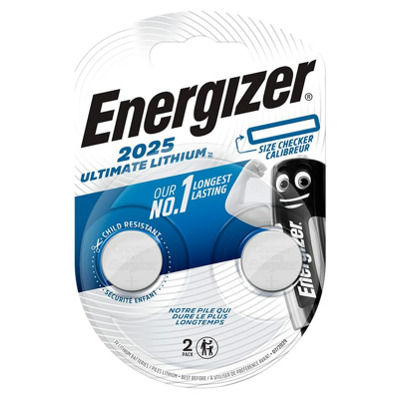 Energizer Ultimate Lithium Cr2025 2 Stk Knopfzelle