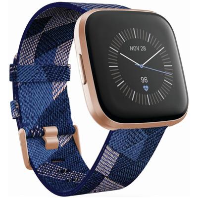 Fitbit Versa 2 SE Navy & Pink Woven Smartwatch