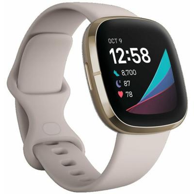 Fitbit Sense Lunar Weiss/Soft Gold Smartwatch